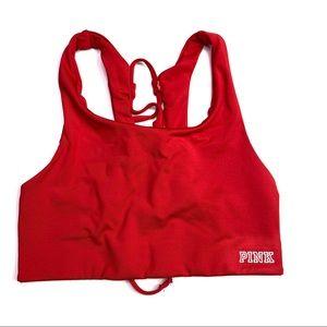 PINK Victoria's Secret Ultimate Red Sports Bra NWT